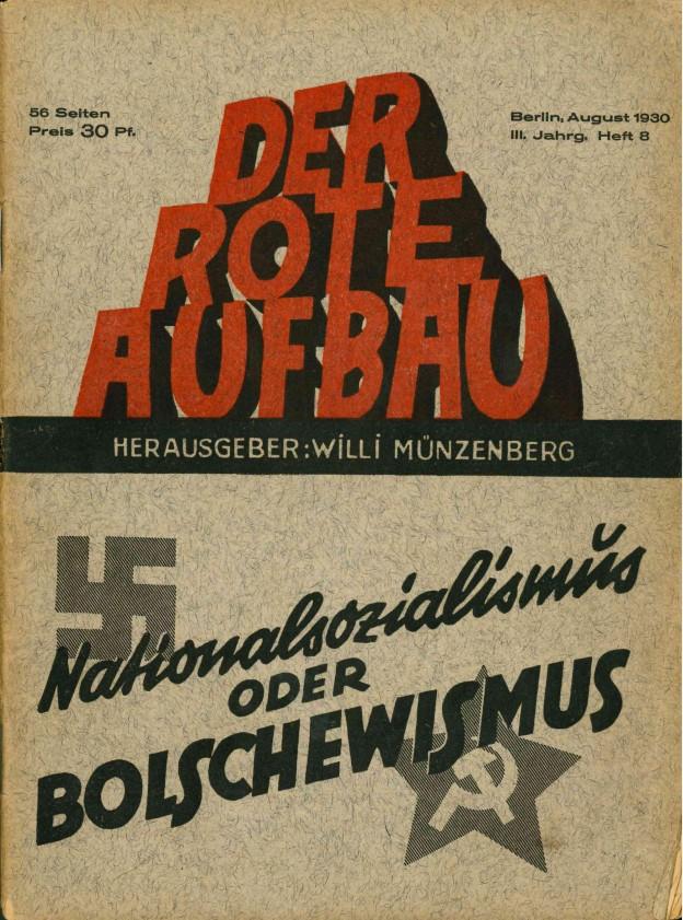Der Rote Aufbau Titelbild 1930