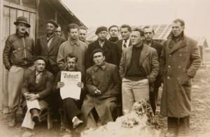 Gruppe von Deutschen im Camp Gurs